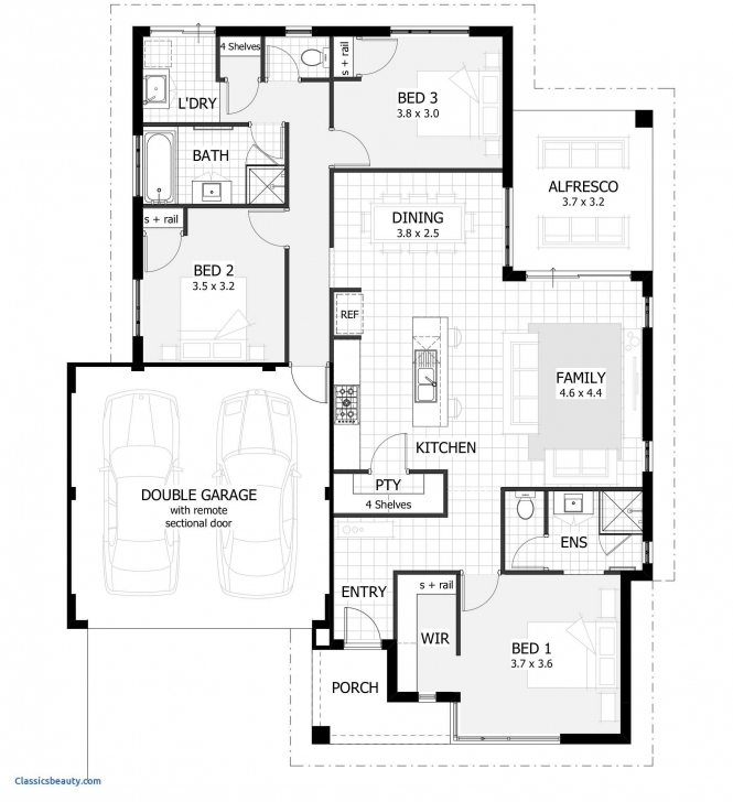 Most Inspiring Simple 3 Bedroom Houses And Their Designs Images House Plans Elegant Simple Three Bedroom House Plan Photo