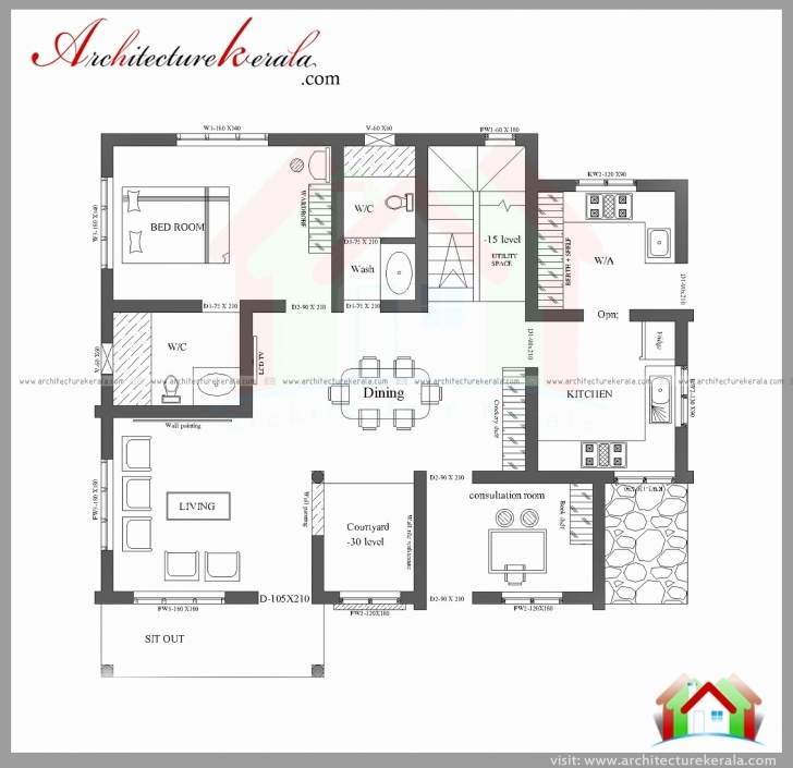 Most Inspiring Simple House Floor Plans 3D Fresh Architecture Kerala 3 Bedroom Kerala Simple Home Plans 3 Bedrooms Image