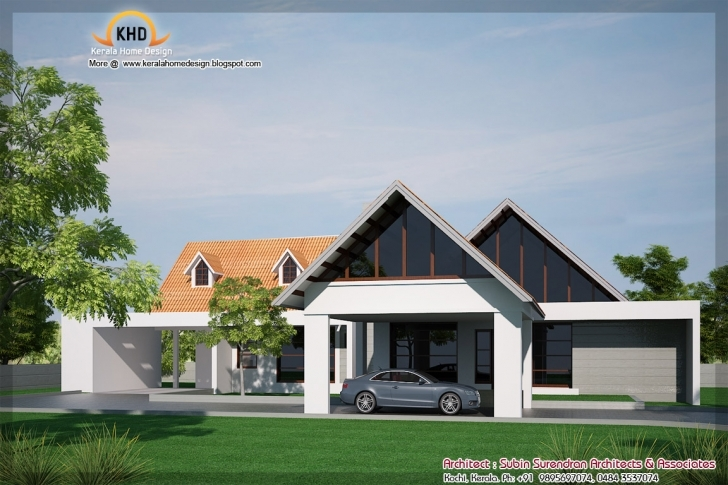 Most Inspiring Single Floor House Elevation - 2900 Sq. Ft - Kerala Home Design And Kerala Home Design Blogspot 2011 Single Floor House Plan Elevation Image