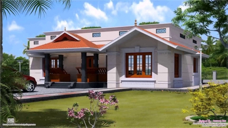 Most Inspiring South Indian Style House Home 3D Exterior Design - Youtube South Indian Small House Images Pic