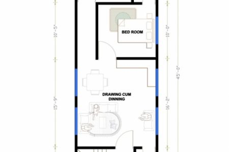 15*45 Duplex House Plan