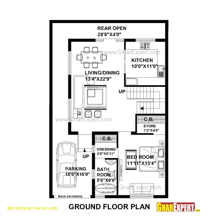 Must See 89+ House Design 15 Feet By 60 Feet - House Plan For 39 Feet By 57 15 X 60 House Plans Pic