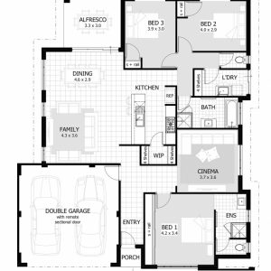 3 Bedroom House With Double Garage Plans
