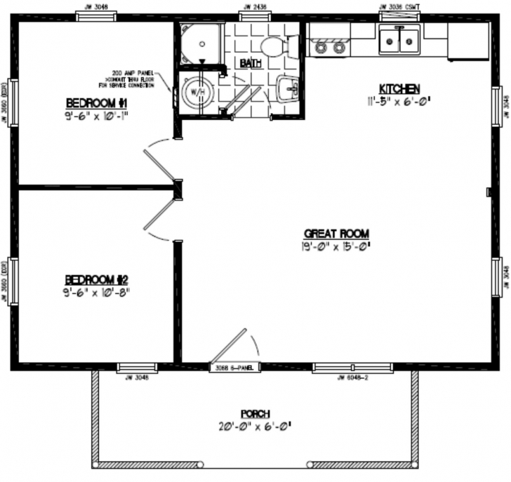 Must See Certified Homes | Pioneer Certified Home Floor Plans 22*40 House Plan Pic