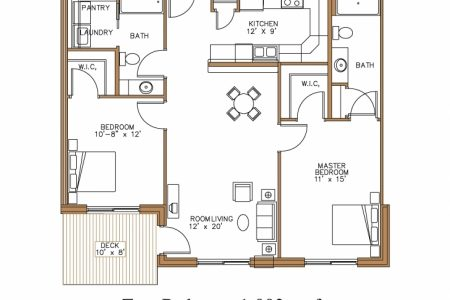 Image Of 2 Bedroom Floor Plan In Nigeria