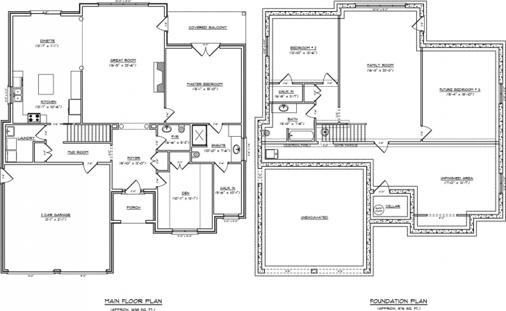 Must See Home Architecture: House Plan Appealing Single Story With Basement Open Floor House Plans Single Story Picture