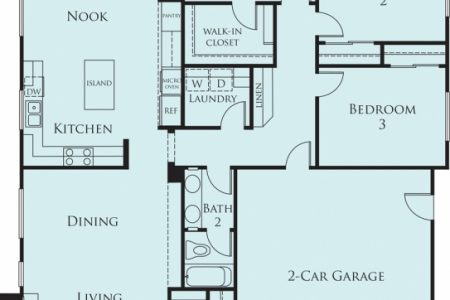Simple 3 Bedroom House Floor Plans Single Story