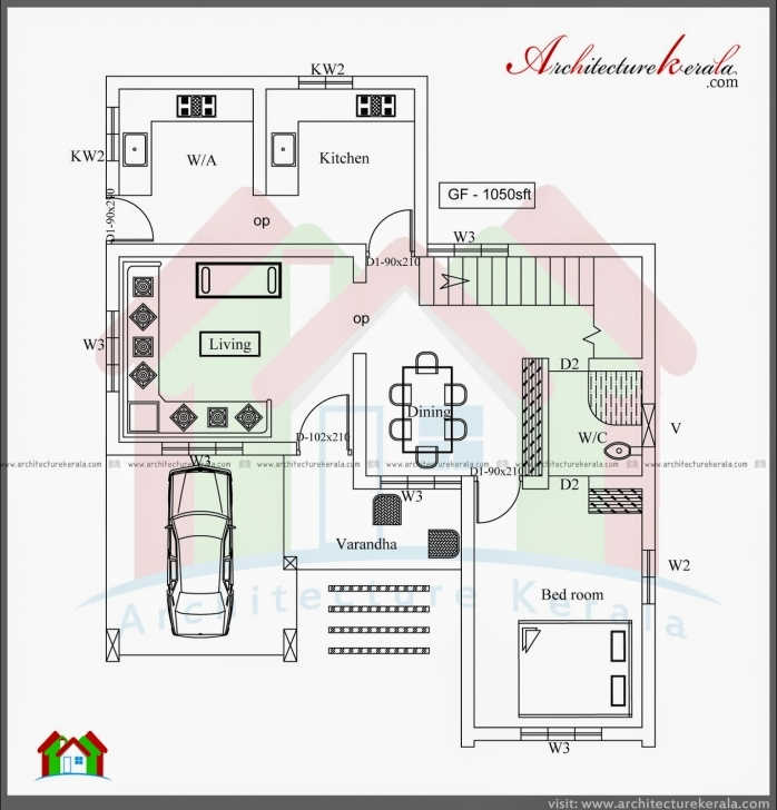 Must See House Plan 4 Bedroom 2 Story House Plans Kerala Style | Memsaheb Simple 4 Bedroom House Plans Kerala Pic