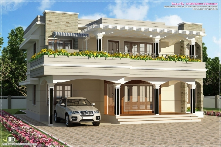 Must See Modern Flat Roof Villa Sq Feet House Design Plans Roof Design Plans Pergola Design House In Kerala Photo