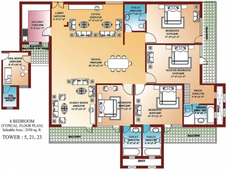 Must See Modern Four Bedroom House Plans Floor Flat 2018 Including Fabulous Four Bedroom Flat Floor Plan Pic