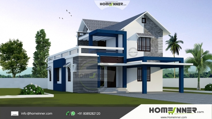 Must See Modern Stylish 3 Bhk Small Budget 1500 Sqft Indian Home Design Beautiful Small Indian House Images Picture