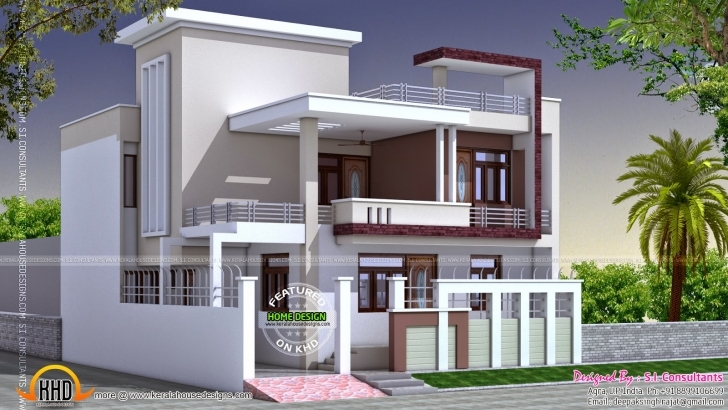 Must See North Indian Square Roof House Kerala Home Design Floor Plans - Gmm 25 Feet Front Design Picture