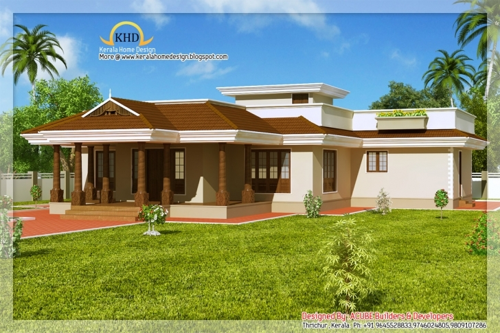Must See Single Floor House Kerala Home Design Plans - Building Plans Online Kerala Home Design Blogspot 2011 Single Floor House Plan Elevation Picture