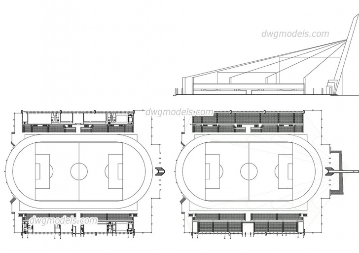 Must See Stadium Plan, Elevation, Autocad Drawing, Free Dwg File, Cad Block Plan Elevation And Section Drawings Dwg Picture