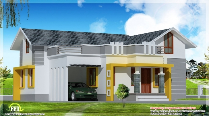 Must See Stylish Single Floor Home Feet Kerala House Design Idea - Building Stylish Single Houses Pic