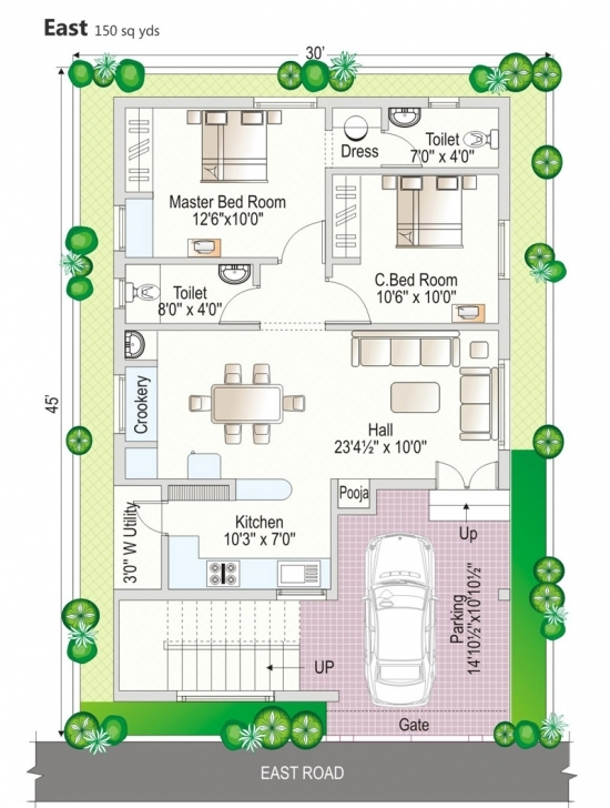 Must See The Best 100+ Duplex House Plans Of 100 Sq Yards Image Collections 100 Square Yard House Design Photo