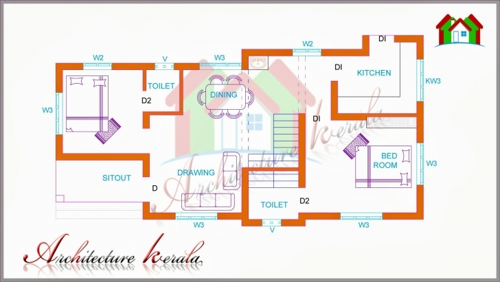 Must See Two Bedroom House Plan For Small Families & Small Plots Two Bedroom House Plans Kerala Style Photo