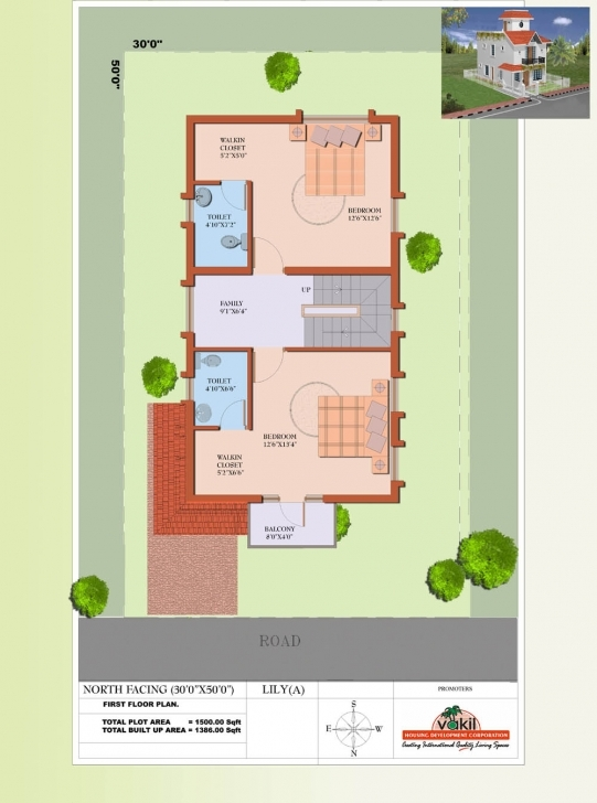 Must See Vakil Hosur Hills Floor Plans 20*50 House Plan North Facing Pic