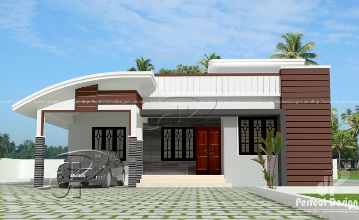 Outstanding 1000 Sq.ft Modern Single Floor Home – Kerala Home Design 1000 Sq Ft House Image