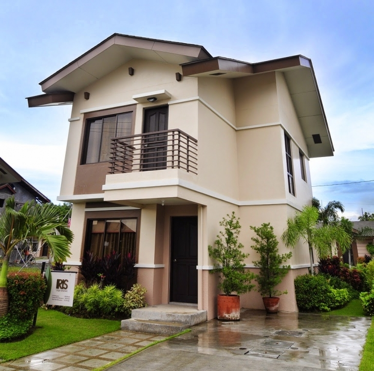 Outstanding 33+ Beautiful 2-Storey House Photos Simple Filipino 2 Storey House Design Photo