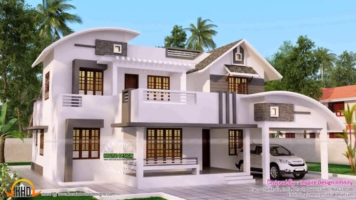 Outstanding 4 Bedroom Double Storey House Plans Kerala - Youtube Double Storey House Plans In Kerala Photo