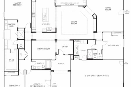 4 Bedroom Single Story House Floor Plans