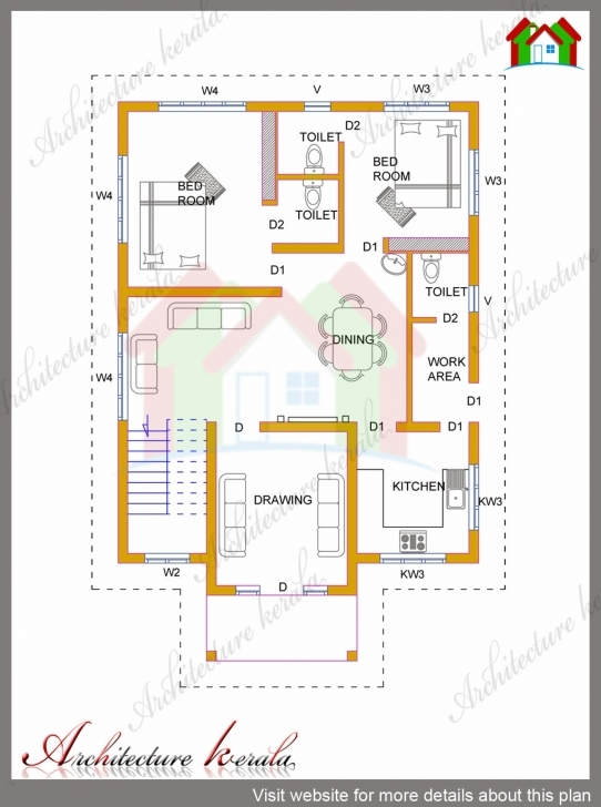 Outstanding 4 Bhk Kerala House In 1700 Square Feet - Architecture Kerala House Plan Drawing 1700 Sq Ft Photo