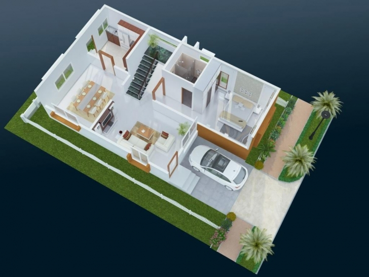 Outstanding 50 Three Oe3 Bedroom Apartmenthouse Plans 10 Fresh 20 X 3D House 20 * 50 House Plan 3D Pic