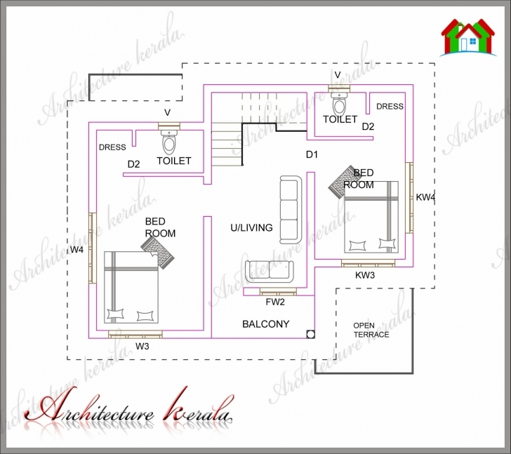 Outstanding A Small Kerala House Plan - Architecture Kerala Kerala House Plans Pic