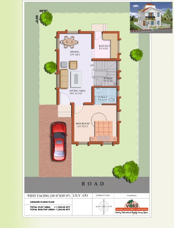 Outstanding Architectures : Tag For West Facing Elevation X House Plans 20 X 60 West Facing House Plans Photo