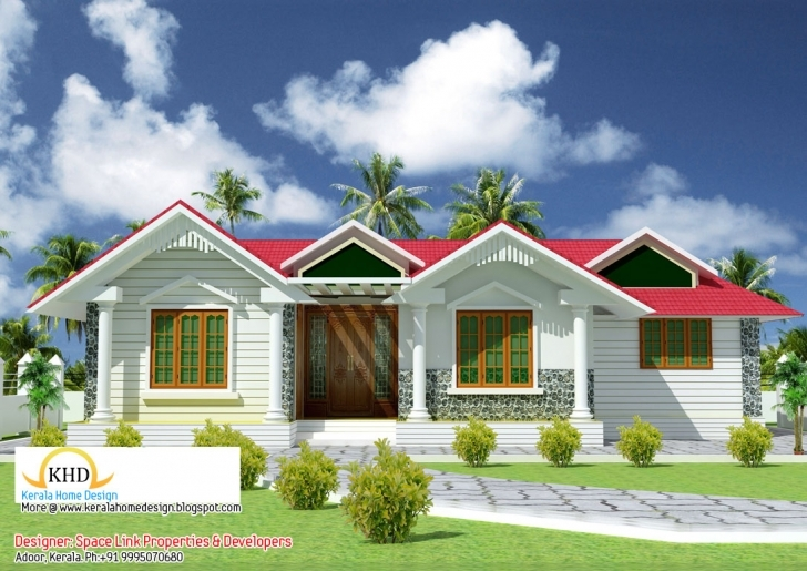 Outstanding Beautiful Single Floor House Elevation Plan Home - Building Plans Kerala Home Design Blogspot 2011 Single Floor House Plan Elevation Photo