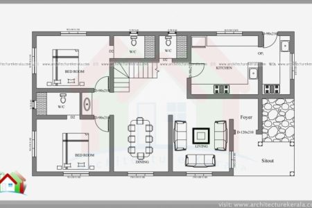 Simple 4 Bedroom House Plans Kerala