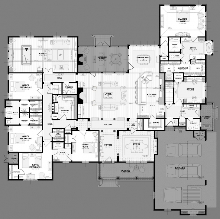 Outstanding Big 5 Bedroom House Plans. Way More Space Than We Need. But 5 Bedroom Buildings Photo