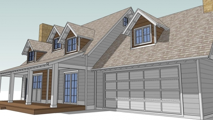 Outstanding Design An Attic Roof Home With Dormers Using Sketchup. Part 2. The Roof Dormer Designs Image
