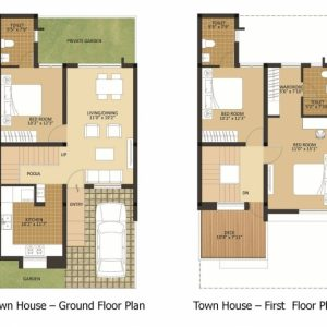 1200 Sq Ft Duplex House Plan With Car Parking