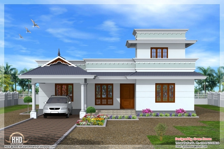 Outstanding Feet Kerala Model One Floor House Design Idea - Building Plans Kerala House Elevation Models Image