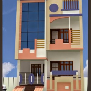 20*50 House Plan 2 Bhk 3D