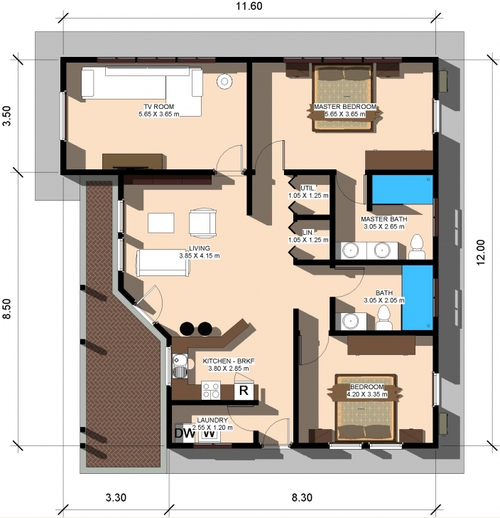 Outstanding House Floor Plan For 80 Square Meters Unique 80 Square Meters In Land Of 25 By 30 Plan Image