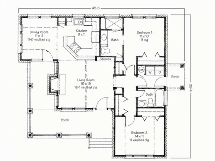Outstanding House Plan House Plan House Plans With Porches | Home Design Ideas Simple Four Bedroom House Plans With A Verandah Photo