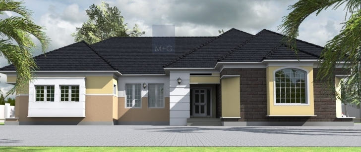 Outstanding House Plans Design Architectural Designs Bedroom Bungalow - Building Modern 4 Bedroom Bungalow House Plans Picture