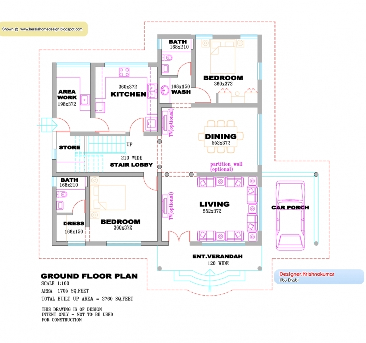 Outstanding Kerala Villa Design Plan Elevation Feet - House Plans | #88290 Kerala Home Design Plans With Photos Photo