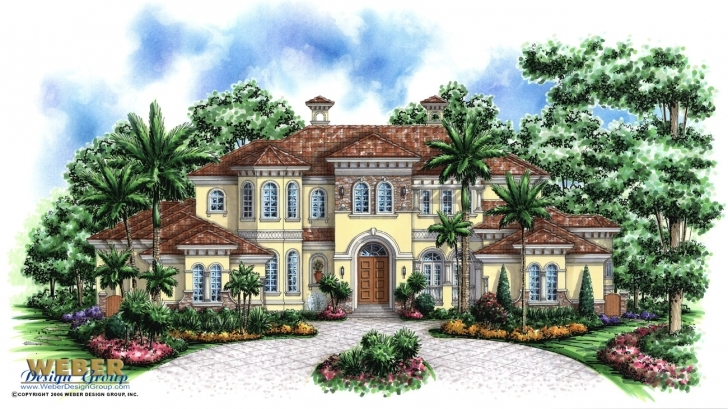 Outstanding Mediterranean House Plan: Luxury Tuscan Mediterranean Floor Plan Luxury Tuscan House Plans Image