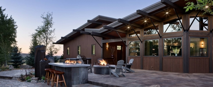 Outstanding Modern Log And Timber Frame Homes And Plans   By Precisioncraft Modern Rustic Mountain Home Plans Image