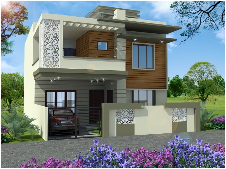 Outstanding New Indian House Duplex Design | The Base Wallpaper Small Beautiful House In India Image