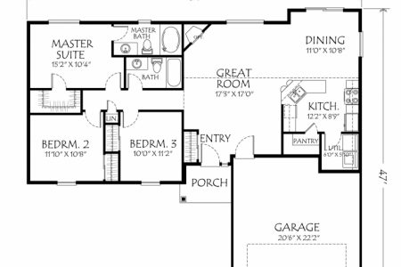3 Bedroom House Floor Plans Single Story