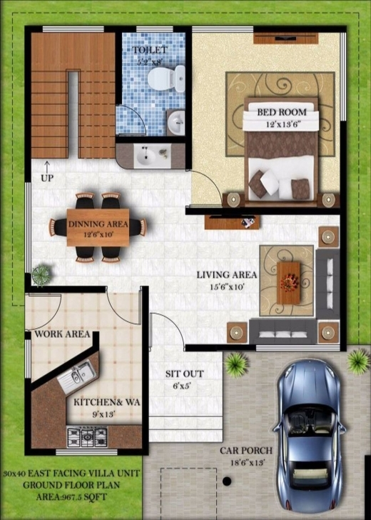 Outstanding X House Plans Plan East Facing Home India By Simple Winsome 30 40 22*40 House Design Photo