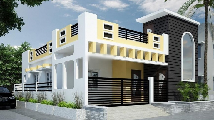 Picture of 25 Awesome Single Floor House Elevations | Housing Loans | Home Single Story House Elevation Design Image