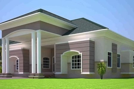 4 Bedroom Modern House Plans In Ghana