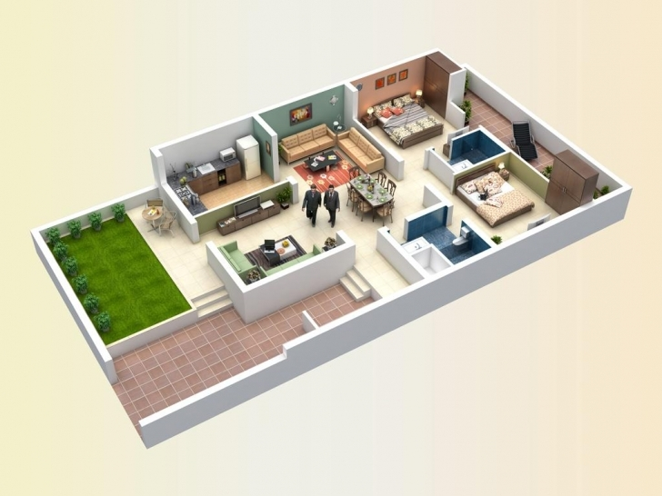 Picture of 30 Feet By 60 House Plan East Face Everyone Will Like | Homes In 15*60 House Plan 3D Photo