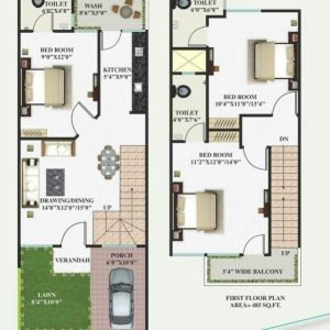 Home Plan 15 By 40